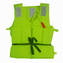 300g Adult Foam Flotation Swimming Life Jacket Vest With Whistle Boating Swimming Safety Life Jacket,Fluorescent green Outdoor