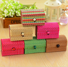LASPERAL Jewelry Container Organizer Bamboo Weaving Jewelry Storage Boxes Pastoral Style Retro Makeup Necklace Cosmetic Holder(China)
