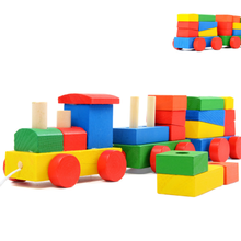 children toy blocks vehicle baby shape awareness building block train enlightenment education kids christmas gift - CW Toy Store store