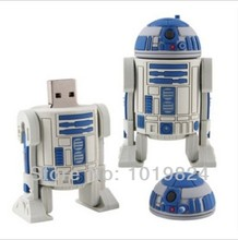 100% real capacity Star War Series Robot USB Flash 2.0 Memory Drive Sticks Pen Disk 4GB 8GB 16G  Rubber S40 #AA