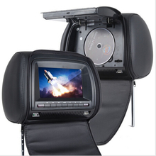 Car Headrest DVD Player Black Universal Digital Screen zipper Car Monitor USB FM TV Game IR Remote Support Russian