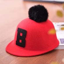 Hot Sell ! 2017New style Autumn/winter Fashion/warm/outdoor worsted Letter/Venonat red Children/baby funny winter hats/felt caps(China)