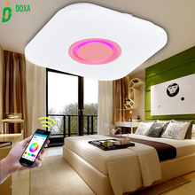 2017 Smartphone APP Control Music Acryl Led Ceiling Light Fixtures with Bluetooth Speaker 36W RGB Color Changing Dimmable Lights