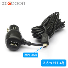 XCGaoon 3.5meter mini USB Car Charger Adapter 5V 2A With USB Port for Car DVR Camera Recorder / GPS, input DC 12V-24V