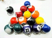 mini ball Pool Billiards snooker table ball keychain the same material as the real BILLIARDS big number CN post(China)