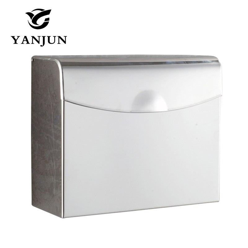 Toilet Paper Box Tissue  Holder Bathroom Accessories Stainless Steel Square Paper Holder Furniture Hardware  Yanjun YJ-8603<br>