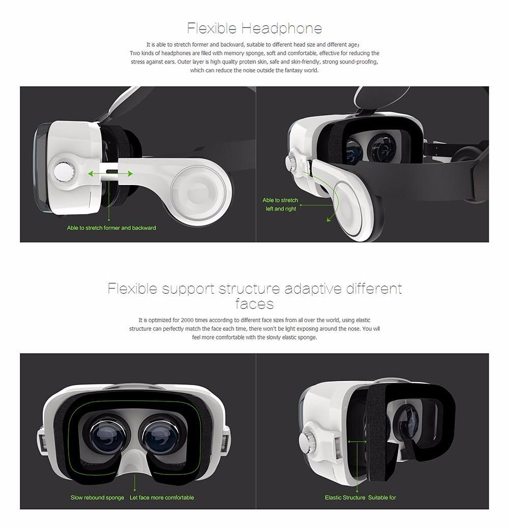 Virtual Reality Google Cardboard VR BOX Original bobovr Z4/ Z4 Mini 3D glasses+Bluetooth Controller for 4-6' Smart Mobile Phone 19