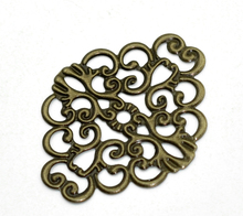 Buy Free shipping-50Pcs Antique Bronze Flower Wraps Connectors Metal Crafts Decoration DIY Findings Connectors 37x30mm J0635 for $3.32 in AliExpress store