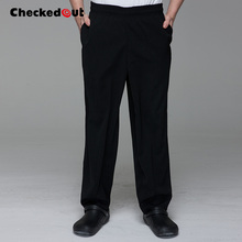 Brands checkedout Chef Pants Black Chef Pants Waitress Overalls Pants Restaurant Chef Work Pants