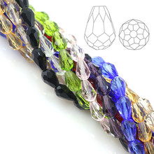 Buy Hot Selling 200pcs/lot Crystal Beads 3x5mm Drop Beads Czech Glass Beads Mixed Color Charms Necklace Bracelet Jewelry Diy for $2.46 in AliExpress store