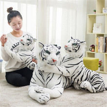 Funny Simulation Plush Tiger Dolls Soft Stuffed Cute Tiger Animal Plush Toy Gifts for Kids and Girlfriend