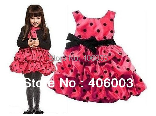 Free Shipping Baby Girl  Ladybug Tutu Dress  Princess Party Dresses Girls  Clothes<br><br>Aliexpress