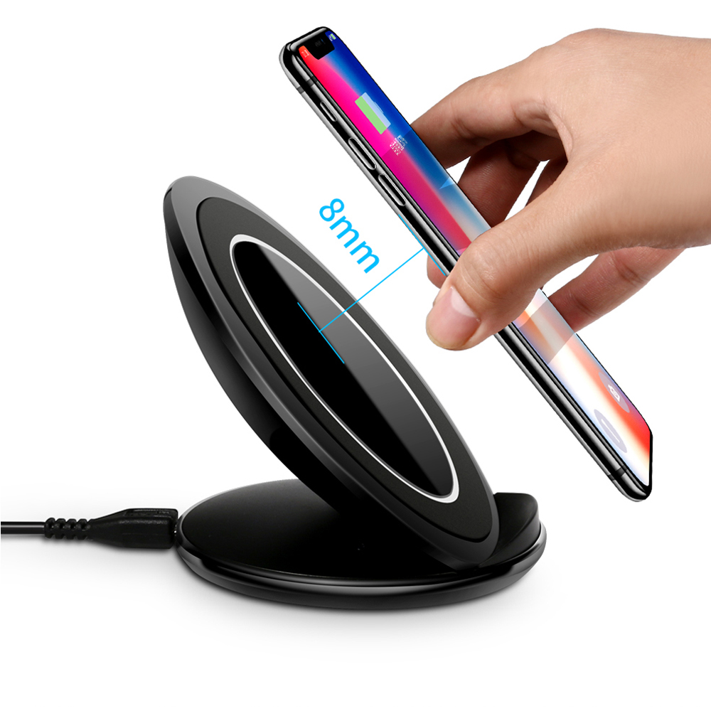 Original eAmpang 10W Qi Fast Wireless Charger for Samsung Galaxy S7 edge S8 S9 Plus Note 9 8 5 Apple iPhone X XS Max XR 8 Plus 3