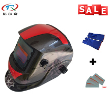 Cheap Cool Color TIG mig Solar welding helmet/argon arc welding mask/grinding Welding Helmet TRQ-HD27-2200de with blue gloves(China)