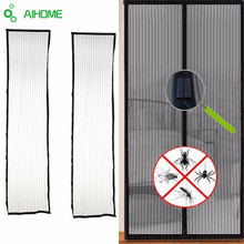 Summer Mosquito Net Curtain Magnets Door Mesh Insect Sandfly Netting with Magnets on The Door Mesh Screen Magnets 210*100cm