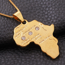 2017 Direct Selling Real Collier Collares Africa Map Pendant Necklaces Jewellery Color Jewelry Necklace Men/women Best Gift Exo(China)