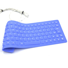 Vococal New Arrival 85 Key Wired USB Silicone Rubber Waterproof Portable Flexible Foldable Keyboard for Notebook Laptop Computer