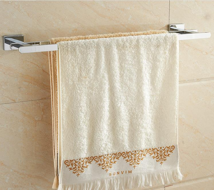 Bathroom Accessories Bath Towel Bar Stainless Steel  Double  towel bars (length:55cm)<br><br>Aliexpress