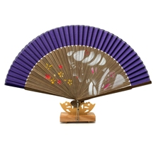 Free Shipping 1pcs High Quality Single Hand Painted Fan Random Pattern Mulicolor Brown Bamboo Fan For Wedding Gift