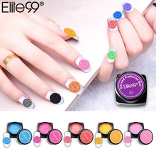 Elite99 3D Carved Patterns Gel Soak Off UV Gel DIY Nail Art Manicure Modelling Painting Polish Decoration Pick 1 From 20 Colors(China)