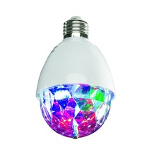 Fancy 3W RGB LED Flash Light Lotating Small Crystal Magic Ball Colorful Lights