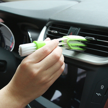 1PCS Car Washer Microfiber Car Cleaning Brush For Air-condition Cleaner Computer Clean Tools Blinds Duster Car Care Detailing(China)