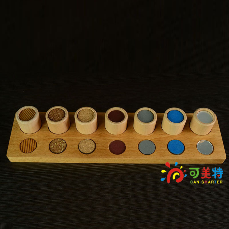 Montessori Education Touching Gradation Pillar  Beech Wood  Sensory toys Early educational toys Can Smarter<br>