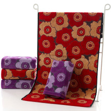 1Piece 75x35CM Cotton Thick Hand Towels Flowers Printed Soft Face Towels Comfortable Hand Towels 6 Colors V20(China)