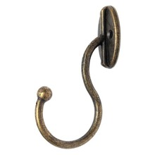 Retro Bronze Single clothes Hook vintage Zinc Alloy Decorative Wall Hooks Mounted coat Hanger Towel Rack