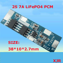 2S 7A 6.4V LiFePO4 BMS/PCM/PCB battery protection circuit board for 2 Packs 18650 Battery Cell(China)
