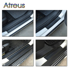 Buy 4Pcs Car Door Plate Carbon Fiber Anti Scratch Stickers Toyota Corolla Seat Leon Jeep Fiat Skoda Fabia Rapid Renault Duster for $3.89 in AliExpress store