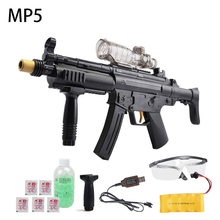 Free shipping Water paintball bullet Toy submachine gun electric bursts mp5 water pistol can launch bullets Children Gift
