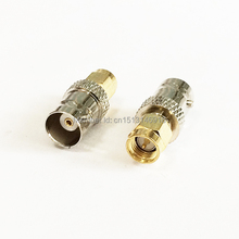 1pc BNC  Female Jack  to  SMA  Male Plug  RF Coax Adapter convertor  Straight   Nickelplated  NEW wholesale