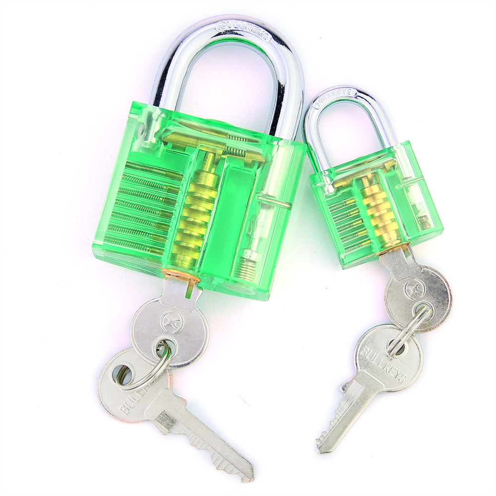 Free Shipping !Two Green Transparent Visible Crystal Lock Set For Locksmith Practicing Training Skills <br><br>Aliexpress