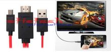 by dhl or ems 100 sets For Samsung Galaxy Note 3 S2 S3 S4 S5 For HTC LG Sony  Micro USB to HDMI TV AV Cable HDTV Adapter Cord