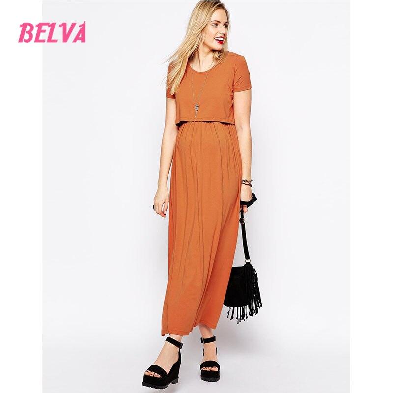 Belva 2017 Maternity Nursing Dress Tiered Top ECO-FRIENDLY Premium Bamboo Fiber Dresses pregnant photography DA571794<br>