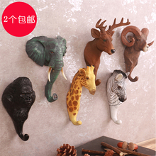 head Arts Crafts American style clothing shop wall hanging deer head elephant creative personality decorative dress hat bag hook