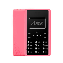 2017 Ultra Thin Card Mobile Phone 4.8mm AIEK X7 Low Radiation mini pocket students children phone P104