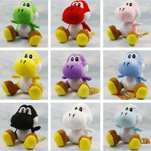 "Free Shipping 5pcs/lot 7"" 18cm Super Mario Bros Yoshi Plush Toy With Tag Sutted Dolls 9 Colors"