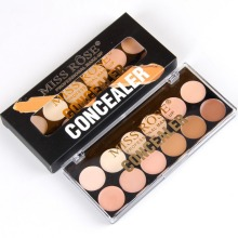MISS ROSE Professional 12 Color Women Concealer Palette Makeup Face Cream Concealer Contour Foundation Palette Set #249081