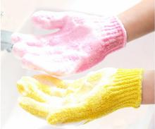 scrub bath glove Five fingers Bath Gloves hammam scrub mitt magic glove exfoliating a lot of color(China)