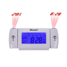 LCD Snooze Dual Projection Clock Digital Alarm Clock Clapping Voice Controlled