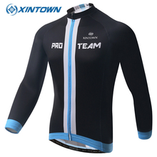XINTOWN cycling jersey china patriots MTB jersey long sleeve Men Women Sport Clothing Cheap France Ciclismo Bicicleta Bicycle(China)