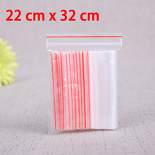 100 Pcs 22x32cm TRANSPARENT ZIP LOCK BAGS 2MIL CLEAR RECLOSABLE POLY ZIP SEAL  ZIPLOCK PACKAGING  BAG For CLOTHING BAGGIES