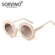 SORVINO Vintage redondo flor niños gafas de sol de diseñador de la marca  círculo pequeño lindo niñas bebé niños gafas de sol ton. 966c6ce9cb