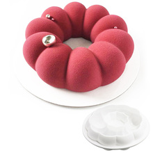 1 Pc Round Wreath Garland Shaped Silicone Mold Cake Pans Baking Tools Mousse Chocolate Dessert Mould Pastry Decoration(China)