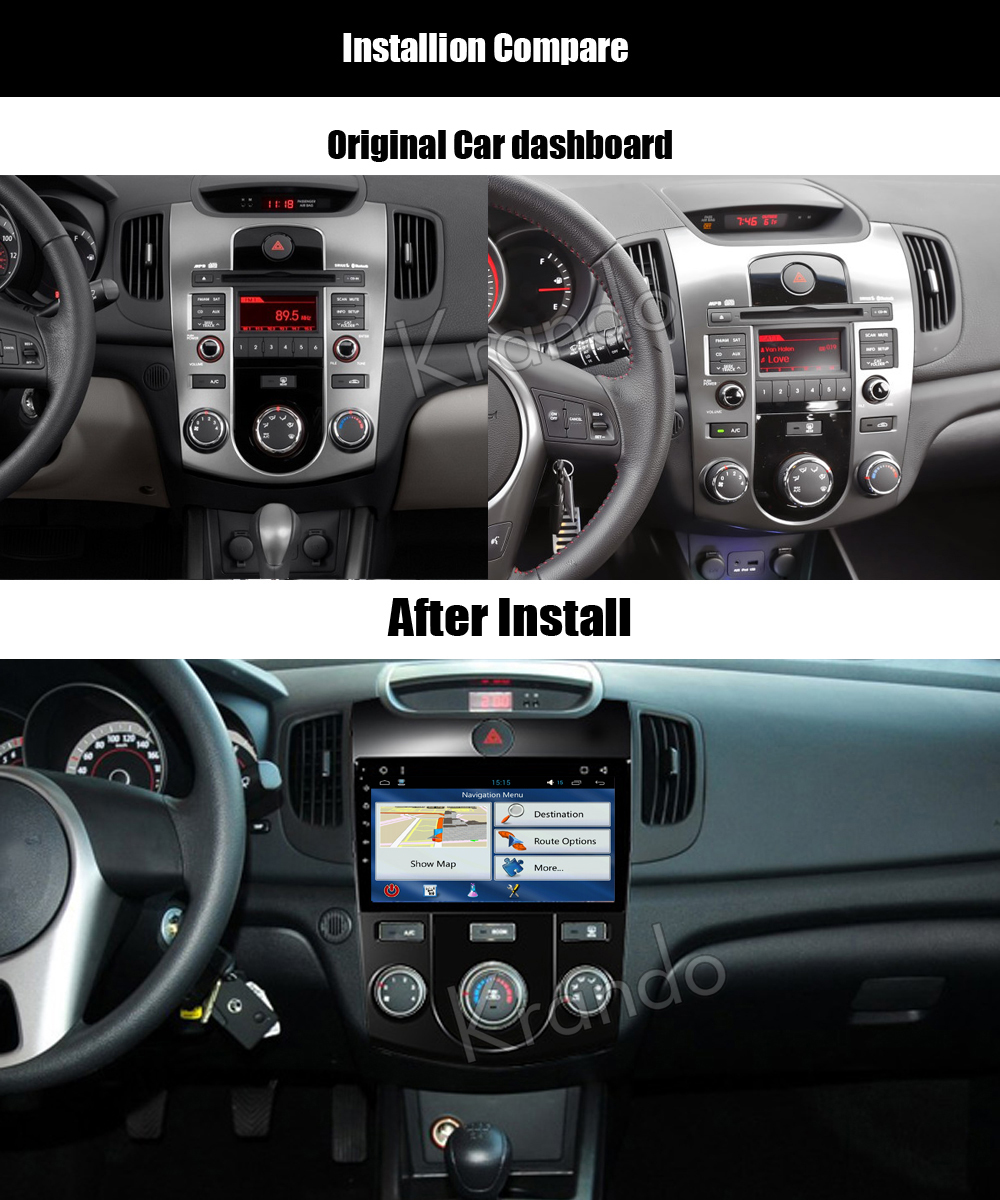Krando kia forte cerato Android car radio gps navigation multimedia system