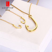 Best Selling 2017 Products Japan Gold Jewelry Sets For Women Shocker Fish Hook Necklace Jewllery(China)