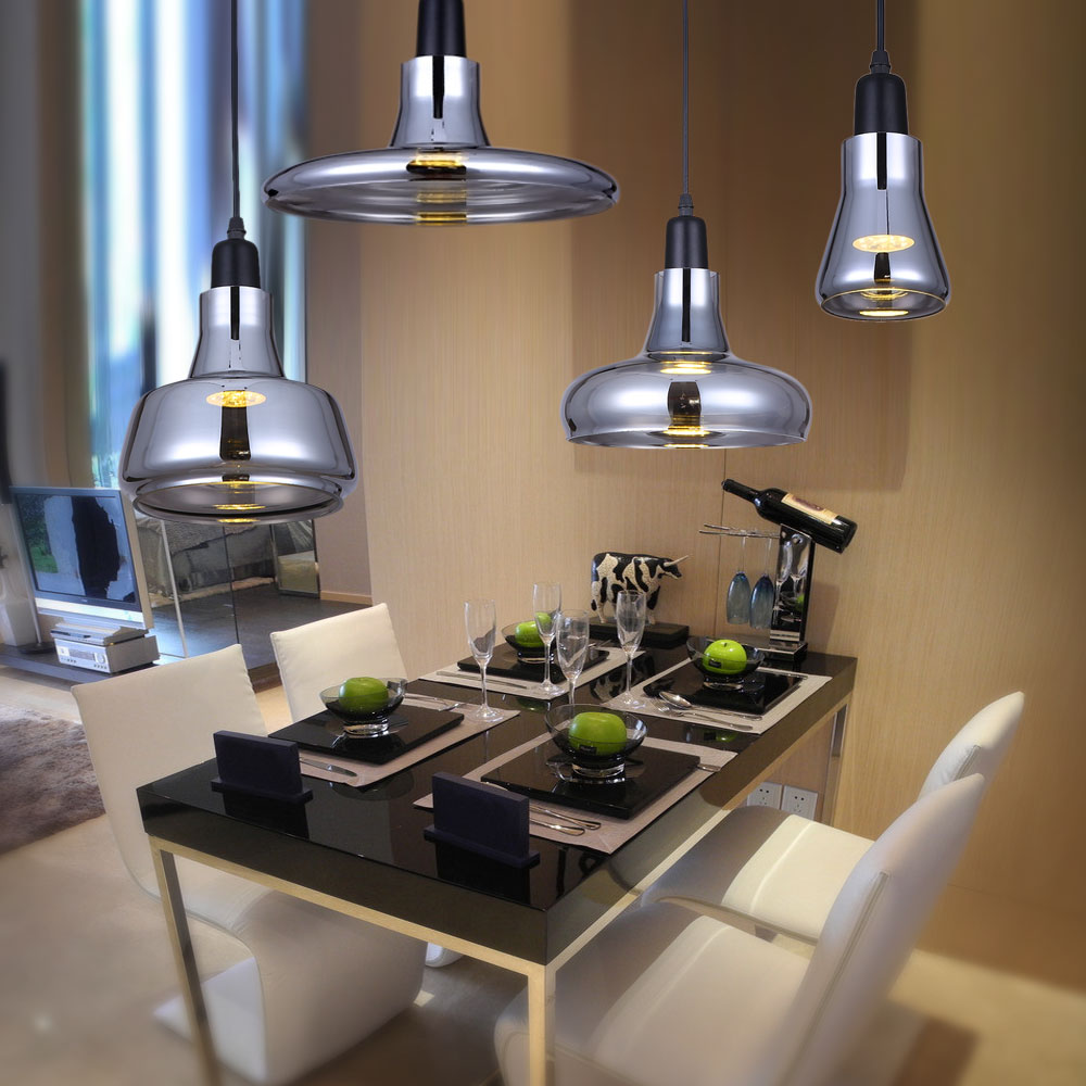 Creative Modern Home Light Gray Smoke Glass Pendant Light Bedroom Dining Room Pendant Lamps Bar Cafe Hanging Droplight Lamparas<br>