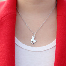 NK2050 New Collier Vintage Goat Sheep Pendant Charm Chains Necklace For Women Jewelry Girl Best Gifts Collier Collana Bijoux